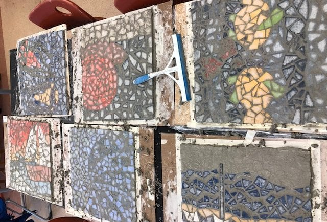 More grouted mosaics