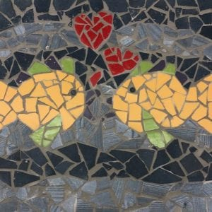 Fishies-in-love mosaic