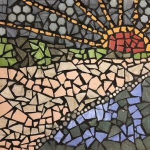 Beach scene mosaic