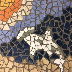 Hammerhead shark mosaic