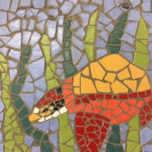 Sea turtle mosaic