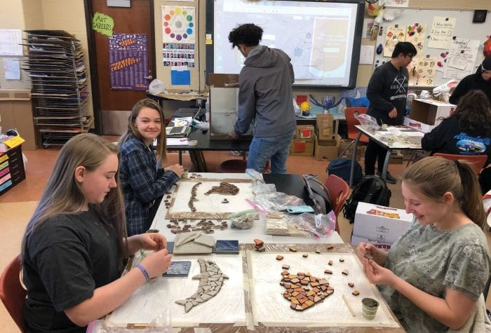 More mosaics created by Waterford High School Students