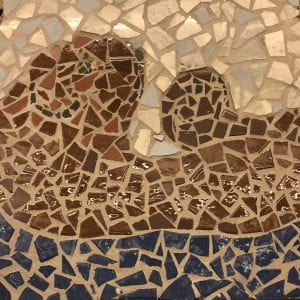 Sea otters mosaic