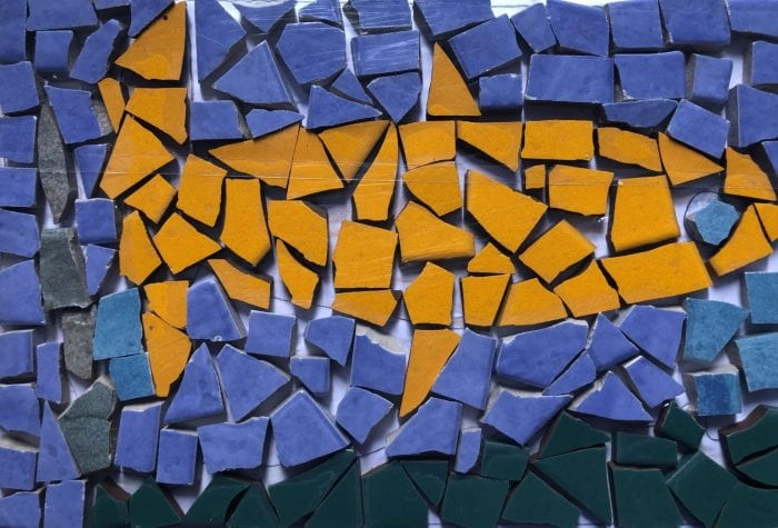 NHAMS fish mosaic, pregrout