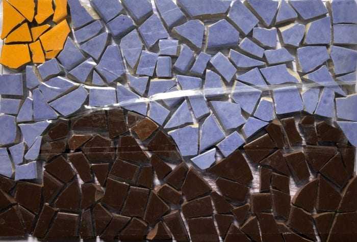 NHAMS seascape mosaic, pregrout
